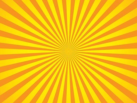 Orange and yellow rays background with spotlight in the center of the wallpaper.