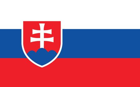 Slovakia flag vector graphic. Rectangle Slovak flag illustration. Slovakia country flag is a symbol of freedom, patriotism and independence.