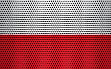 Abstract flag of Poland made of circles. Polish flag designed with colored dots giving it a modern and futuristic abstract look.