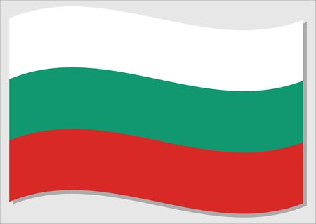 Waving flag of Bulgaria vector graphic. Waving Bulgarian flag illustration. Bulgaria country flag wavin in the wind is a symbol of freedom and independence.