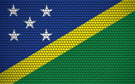 Abstract flag of Solomon Islands made of circles. Solomon Islander flag designed with colored dots giving it a modern and futuristic abstract look.