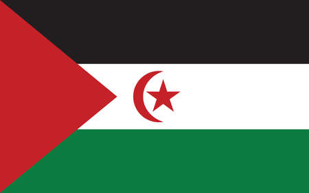 Western Sahara flag vector graphic. Rectangle Saharan flag illustration. Western Sahara country flag is a symbol of freedom, patriotism and independence. Vecteurs