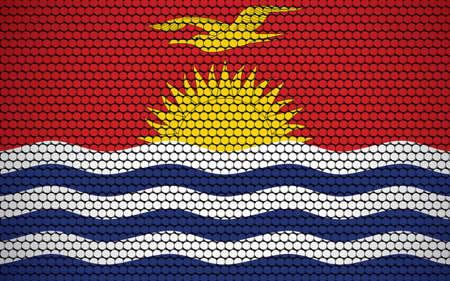 Abstract flag of Kiribati made of circles. I-Kiribati flag designed with colored dots giving it a modern and futuristic abstract look.
