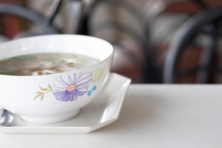 mush: Boiled rice or mush for thai breakfast.