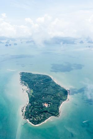 bird's eye view: Birds eye view of islands near Phuket, Thailand.