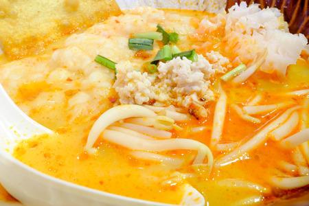 tom': Thai food, Pork noodle tom yum.