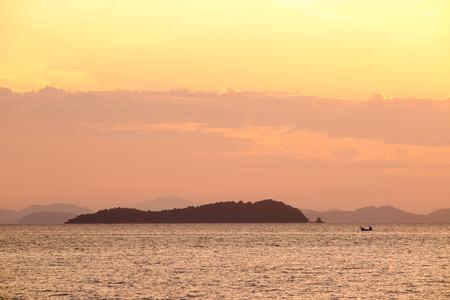 phuket: Sunrise at Phuket Beach. Thailand.