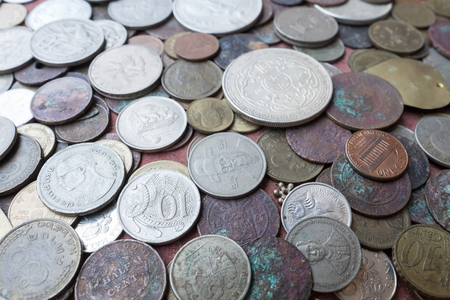 monete antiche: Vecchie monete.