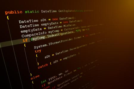 Computer-Sprache-Quellcode auf Computer-Monitor.