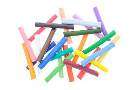 Colorful Plasticine isolated on white background.