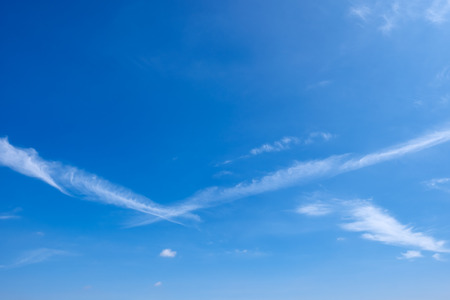 cirrus: Sky and cirrus clouds. Stock Photo