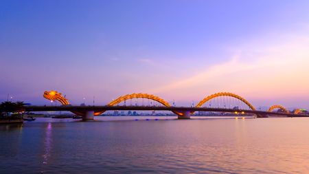 Dragon River Bridge ( Rong Bridge) in Da Nang, Vietnam. Reklamní fotografie