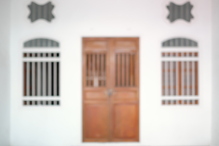 Blurred image of Sino Portuguese Architecture in Phuket old town.