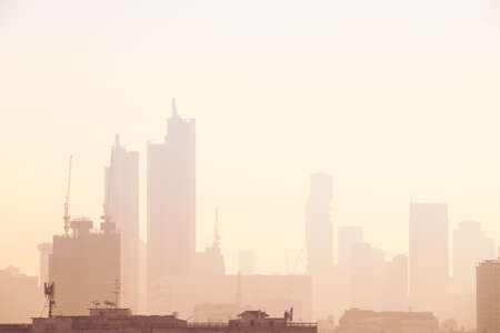 The particulate matter (PM2.5) reached hazardous levels in Thailand's capital. Bangkok Thailand.