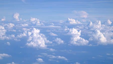 Clouds from airplane window Imagens