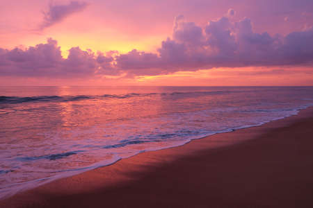 Colorful sunset over the sea. Phuket, Thailand. Imagens