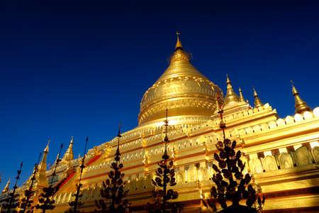 The Shwezigon Pagoda or Shwezigon Paya is a Buddhist temple located in Nyaung-U near Bagan, in Myanmar.