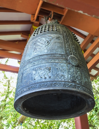 Bon-Sho  sacred bell   is a 5-foot high, 3-ton brass bell that hangs in the bell house at Byodo-In Temple in the Valley of the Temples on Oahu, Hawaii