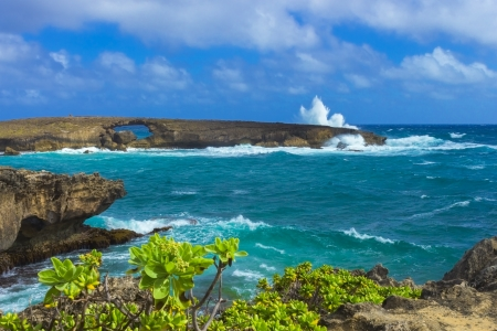 Puka Island, also known as the Eye of Mo o, in Laie, Oahu, Hawaii