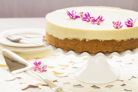 graham: Elegant lilikoi, passion fruit, chiffon pie with graham cracker crust