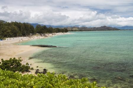 A view of Kailua Beach and the Koolau Mountains