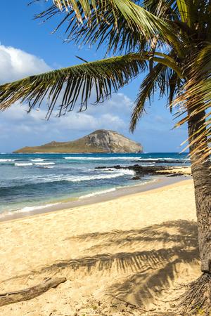 windward: Manana Island, commonly known as Rabbit Island, off the Windward Coast of Oahu, Hawaii Stock Photo