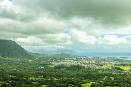 windward: The town of Kaneohe and the Windward coast of Oahu, Hawaii