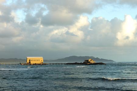 Makai Research Pier in Waimanalo Bay on Oahu, Hawaii