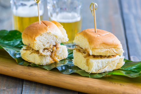 Kalua pork sliders on sweet Hawaiian buns