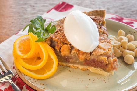 poi: Hawaiian macadamia nut pie made with poi kulolo