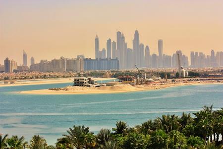 두바이 스카이 라인 아랍 에미리트