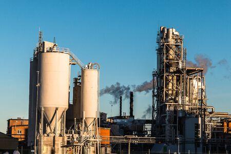 Pollution of factories Banco de Imagens - 131824990