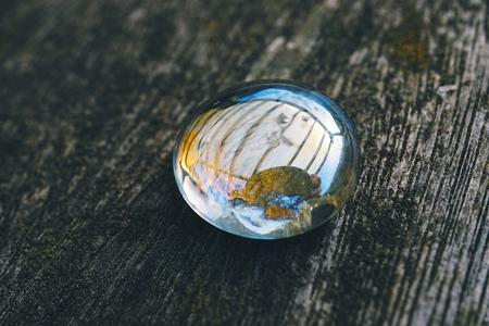gota de burbuja de cristal decorativa