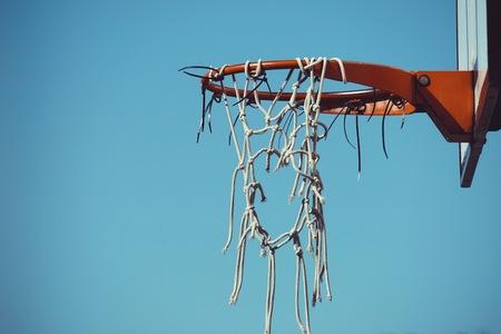 old broken basket sport in the street. Bilbao. spain