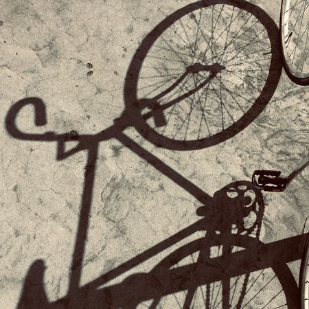 bicycle transportation shadow silhouette in the street