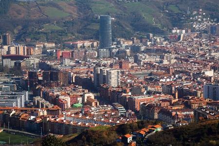 building architecture and cityscape in Bilbao city Spain, Bilbao travel destination