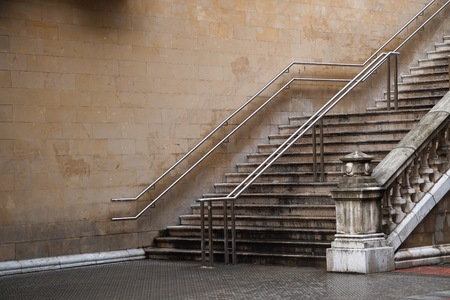 stairs architecture in the street in Bilbao city, Spain