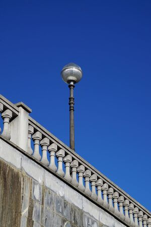 streetlight in Bilbao city in Spain, street lamps in the street