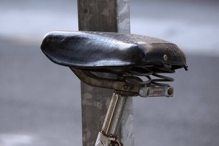bicycle seat transportation in the street