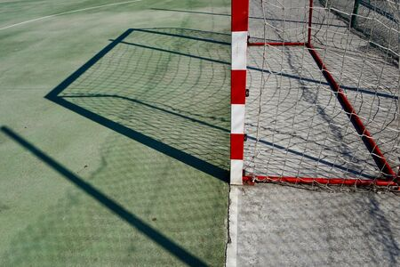 soccer goal sports equipment in the field on the street
