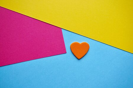 colorful heart to say i love you, love and colors Banco de Imagens