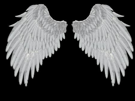 Angelic vleugels Stockfoto