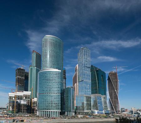 multi storey: multi storey building on a sky background Stock Photo
