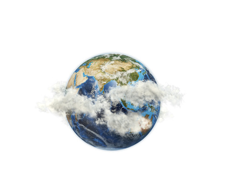 Globe among the clouds. photo