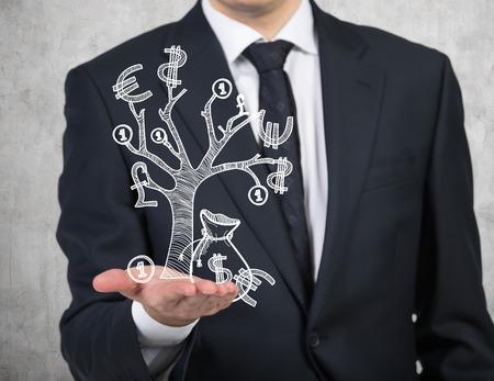 dinero euros: negocios la celebraci�n de dibujo �rbol de dinero