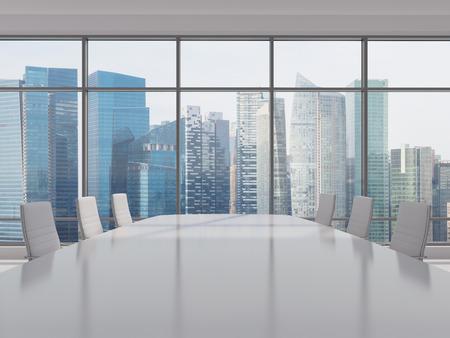 iluminacion: lugar de trabajo de oficina con mesa y sillas