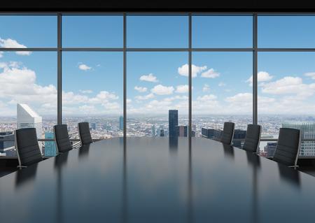 Büroarbeitsplatz mit Tisch und Stühlen Standard-Bild - 35429223
