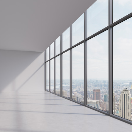 view window: modern office interior and city view