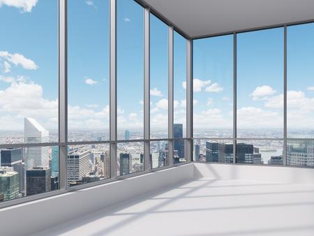 ventanas: oficina con ventana grande, 3d Foto de archivo