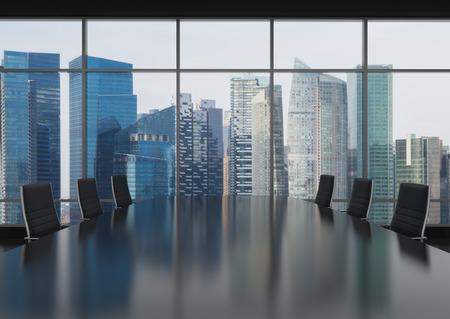 pizarra: moderno lugar de trabajo de oficina con mesa y sillas